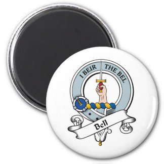 Bell Clan Badge 2 Inch Round Magnet