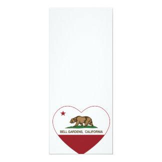 """Bell cultiva un huerto corazón de California Invitación 4"""" X 9.25"""""""