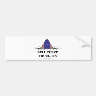 Bell Curve Thoughts (Normal Distribution Curve) Car Bumper Sticker