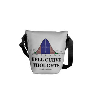Bell Curve Thoughts (Normal Distribution Curve) Messenger Bag