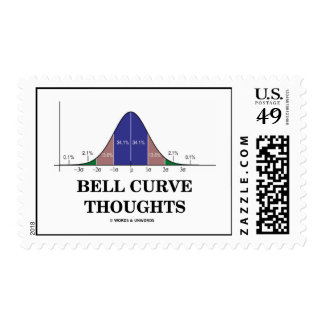 Bell Curve Thoughts (Normal Distribution Curve) Stamp