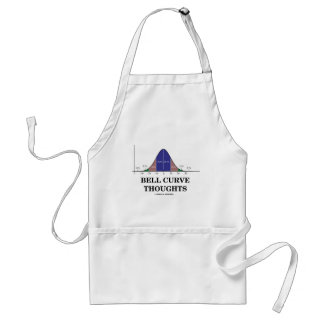 Bell Curve Thoughts (Statistics Attitude) Adult Apron