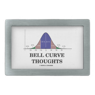 Bell Curve Thoughts (Statistics Humor) Rectangular Belt Buckle