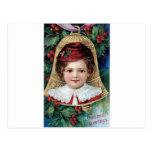 Bell en el árbol de navidad tarjetas postales