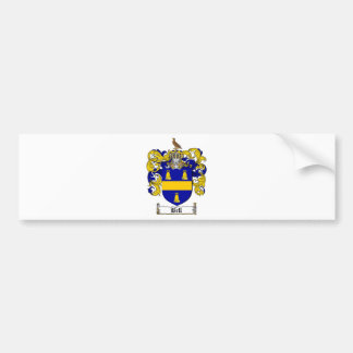 BELL FAMILY CREST -  BELL COAT OF ARMS BUMPER STICKER