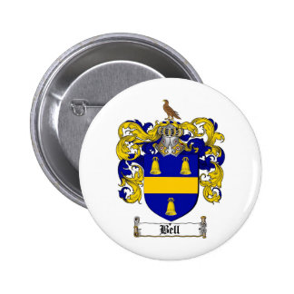 BELL FAMILY CREST -  BELL COAT OF ARMS BUTTON