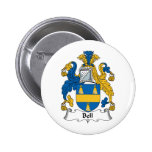 Bell Family Crest Pinback Button