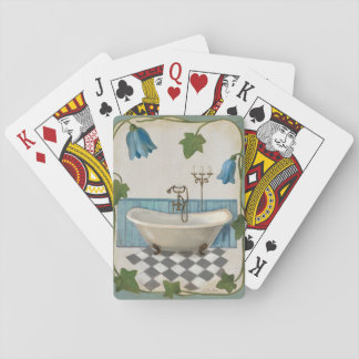 Bell Flower Bath Playing Cards