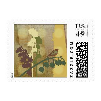 Bell Flower Bird Design Stamp