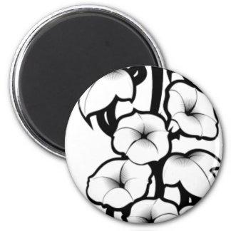 Bell Flower Tribal 2 Inch Round Magnet