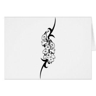 Bell Flower Tribal Card