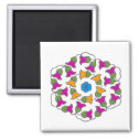 Bell Flowers 2 Inch Square Magnet