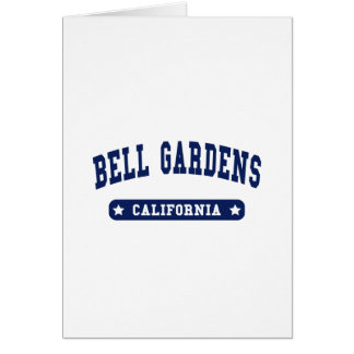 Bell Gardens California College Style t shirts Card