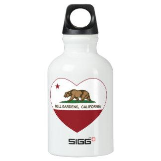 Bell Gardens California Heart Aluminum Water Bottle