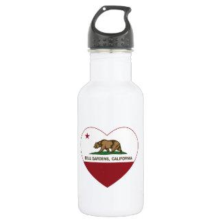 Bell Gardens California Heart Stainless Steel Water Bottle