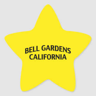 Bell Gardens California Star Sticker