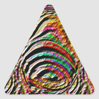 Bell, Gong : Ancient Temple Wall Engraved Art Triangle Sticker