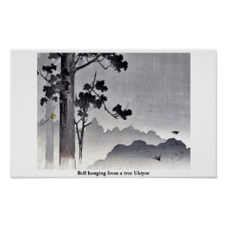 Bell hanging from a tree Ukiyoe Print