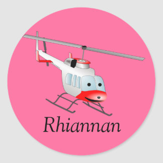 Bell helicopter classic round sticker
