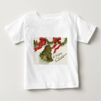 Bell Holly Red Ribbon Berry Garland Baby T-Shirt