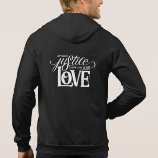 bell hooks Without Justice Black Zip-Up Hoodie