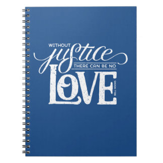 bell hooks Without Justice Blue Notebook