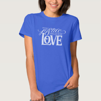 bell hooks Without Justice Fitted Blue T-Shirt