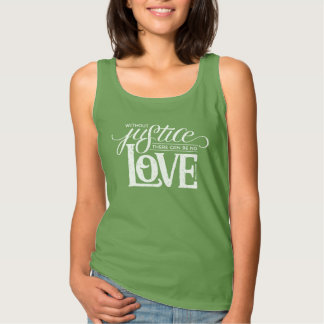 bell hooks Without Justice Fitted Green Tank