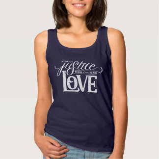 bell hooks Without Justice Fitted Navy Tank