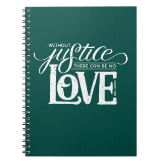 bell hooks Without Justice Green Notebook