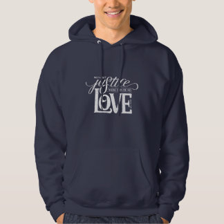 bell hooks Without Justice Navy Pullover Hoodie