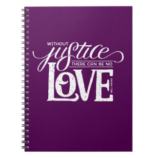 bell hooks Without Justice Purple Notebook
