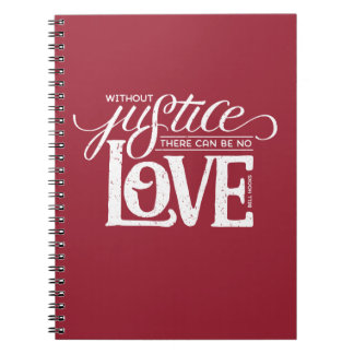 bell hooks Without Justice Red Notebook