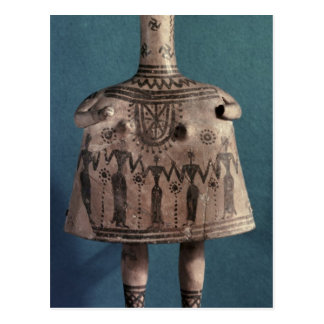 Bell idol, from Thebes, Boeotia, c.700 BC Postcard
