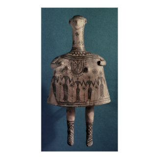 Bell idol from Thebes Boeotia c 700 BC Print