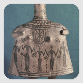 Bell idol, from Thebes, Boeotia, c.700 BC Square Sticker