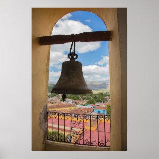 Bell in a church tower, Cuba Poster