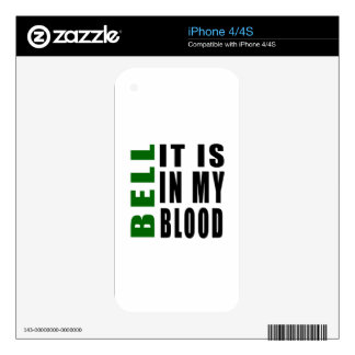 Bell It Is In My Blood iPhone 4 Decals