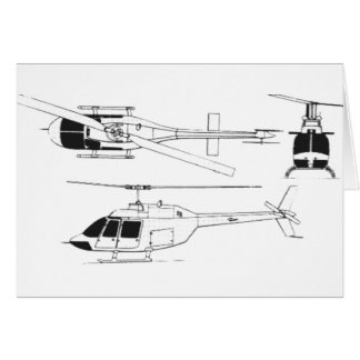 Bell Jet Ranger / TH- Greeting Cards