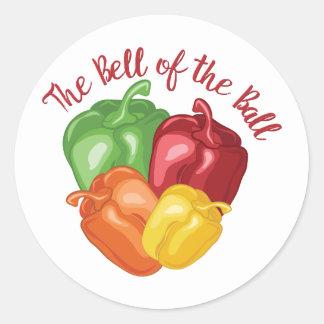 Bell Of Ball Classic Round Sticker
