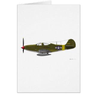 Bell P-39Q Airacobra Tarjeta De Felicitación