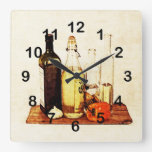 Bell pepper, garlic and cooking oils clocks