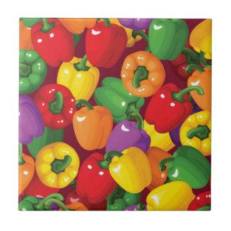 Bell Pepper Pattern Ceramic Tile