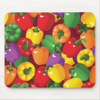 Bell Pepper Pattern Mouse Pad