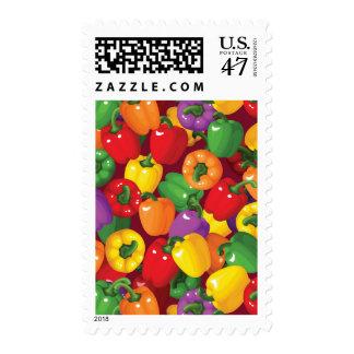Bell Pepper Pattern Postage