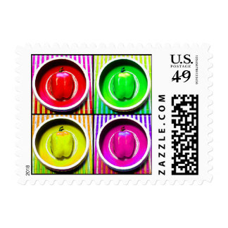Bell Pepper Rainbow Postage Stamp