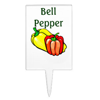 Bell pepper with picture for garden cake topper