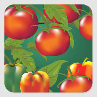 Bell Peppers and Tomatoes Sticker