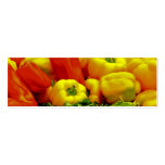 Bell Peppers Double-Sided Mini Business Cards (Pack Of 20)