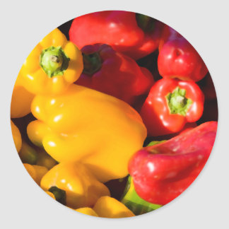 Bell Peppers Classic Round Sticker